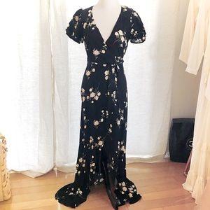 Reformation Wrap Floral Dress